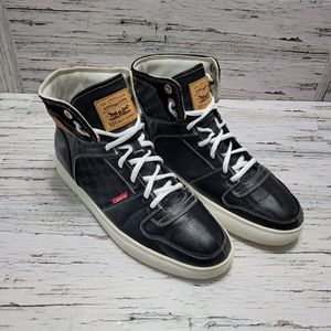 Levi's Hi 501 Black Lace Up High Top Sneaker Boot